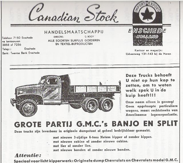 GMC surplus ad
