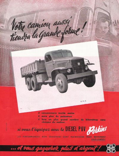 GMC ad with Perkins diesel