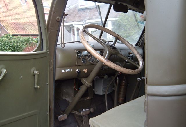 GMC military style dashboard