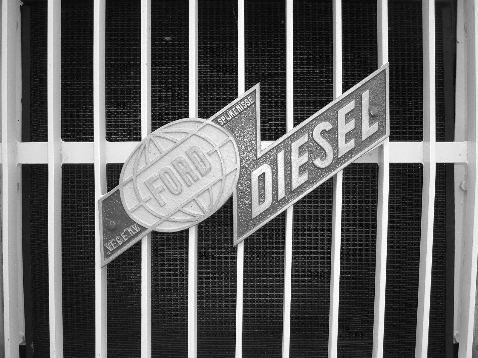 GMC with Ford diesel logo